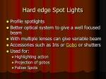 hard edge spot lights