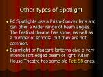 other types of spotlight