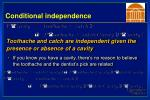 conditional independence30
