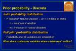 prior probability discrete