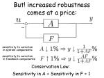 but increased robustness comes at a price