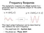 frequency response