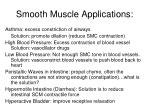 smooth muscle applications