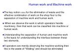 human work and machine work
