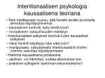 intentionaalisen psykologia kausaalisena teoriana