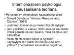 intentionaalisen psykologia kausaalisena teoriana15