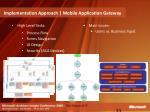implementation approach mobile application gateway33