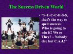 the success driven world
