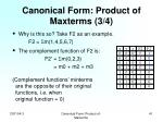 canonical form product of maxterms 3 4