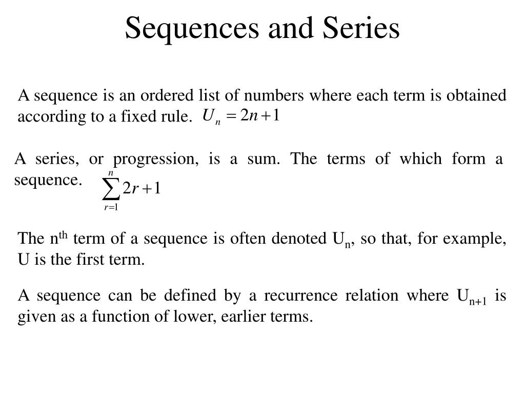 sequences and series l.