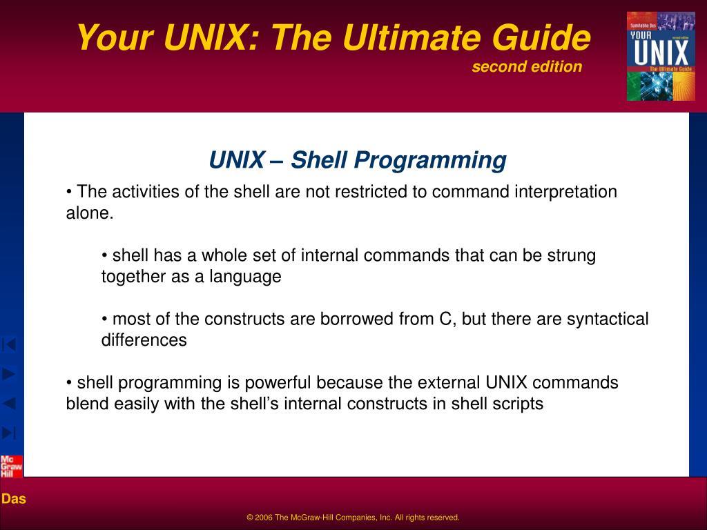 unix shell programming l.