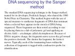 dna sequencing by the sanger method