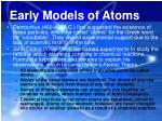 early models of atoms