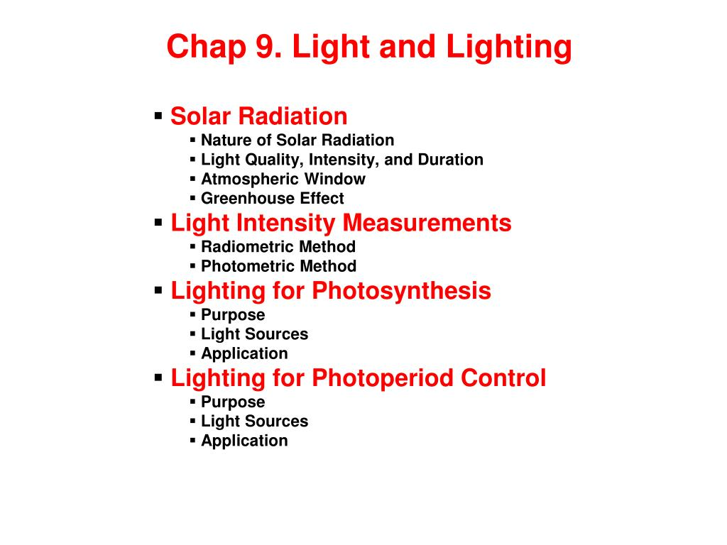 chap 9 light and lighting l.