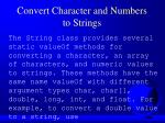 convert character and numbers to strings