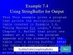 example 7 4 using stringbuffer for output