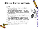 diabetes overview continued10