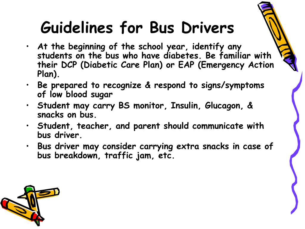 Guidelines for Bus Drivers