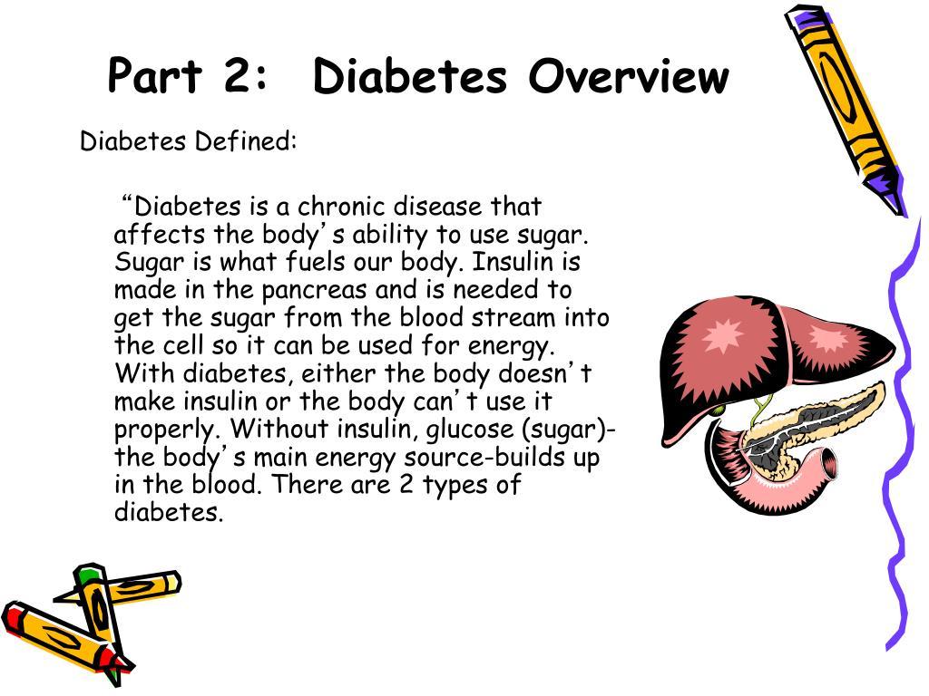 Part 2:  Diabetes Overview