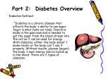 part 2 diabetes overview