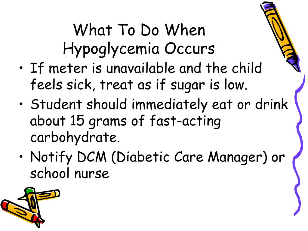 What To Do When Hypoglycemia Occurs