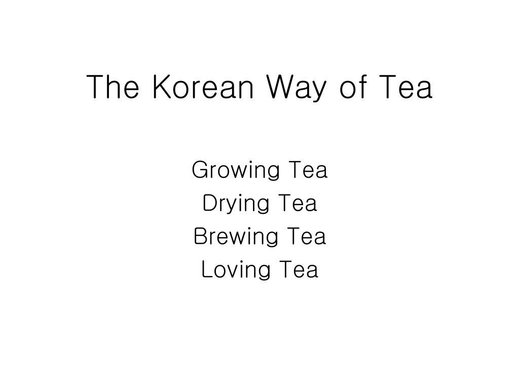 the korean way of tea l.