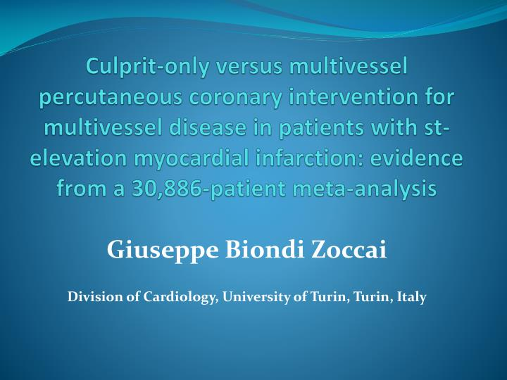 giuseppe biondi zoccai division of cardiology university of turin turin italy n.