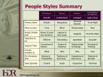 people styles summary