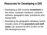 resources for developing a gis