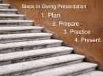 steps in giving presentation