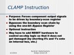 clamp instruction
