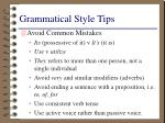 grammatical style tips
