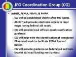 jfo coordination group cg