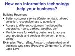 how can information technology help your business