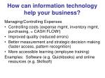 how can information technology help your business7