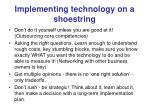 implementing technology on a shoestring