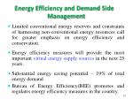 energy efficiency and demand side management