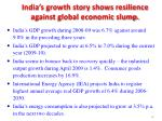 india s growth story shows resilience against global economic slump
