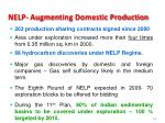 nelp augmenting domestic production