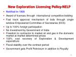 new exploration licensing policy nelp
