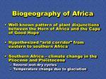 biogeography of africa
