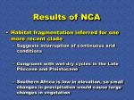 results of nca46