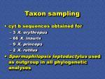 taxon sampling37