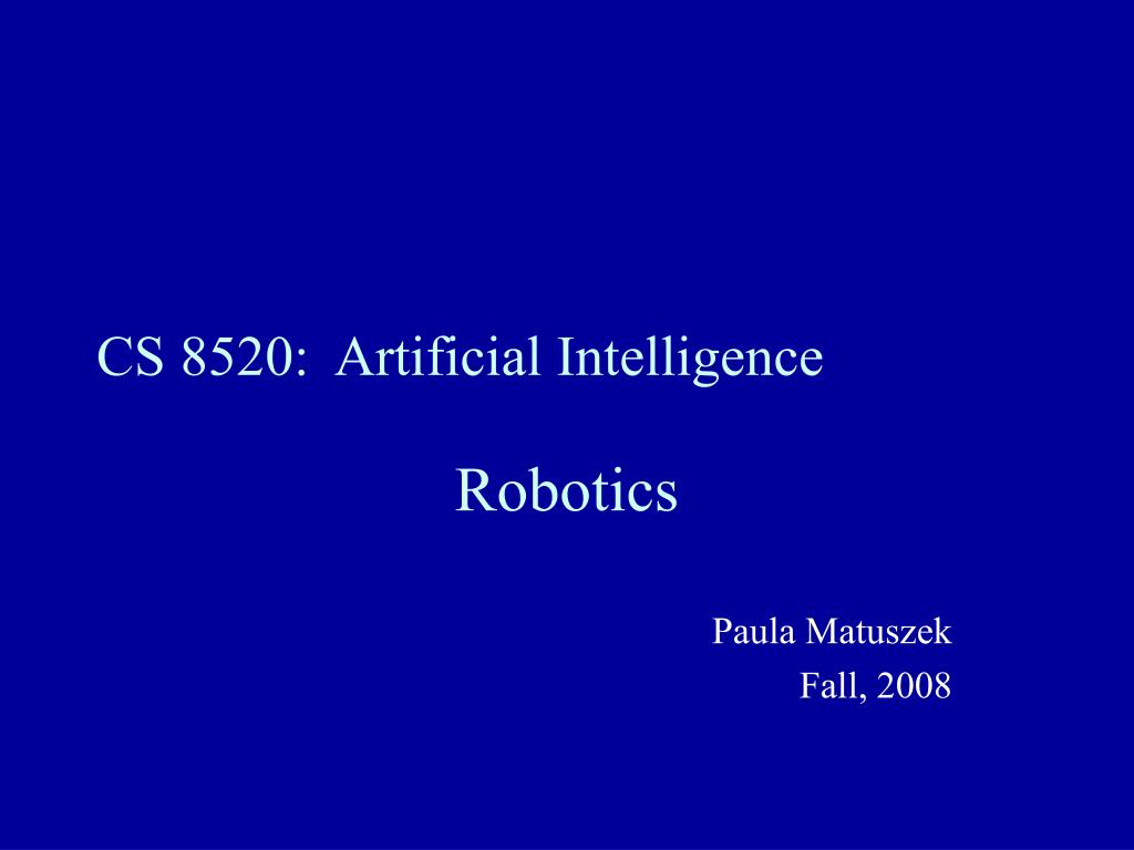cs 8520 artificial intelligence l.