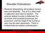 shoulder dislocations33