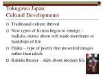 tokugawa japan cultural developments
