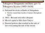 tokugawa shogunate military gov t tokugawa ieyasu 1603 1616