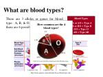 what are blood types