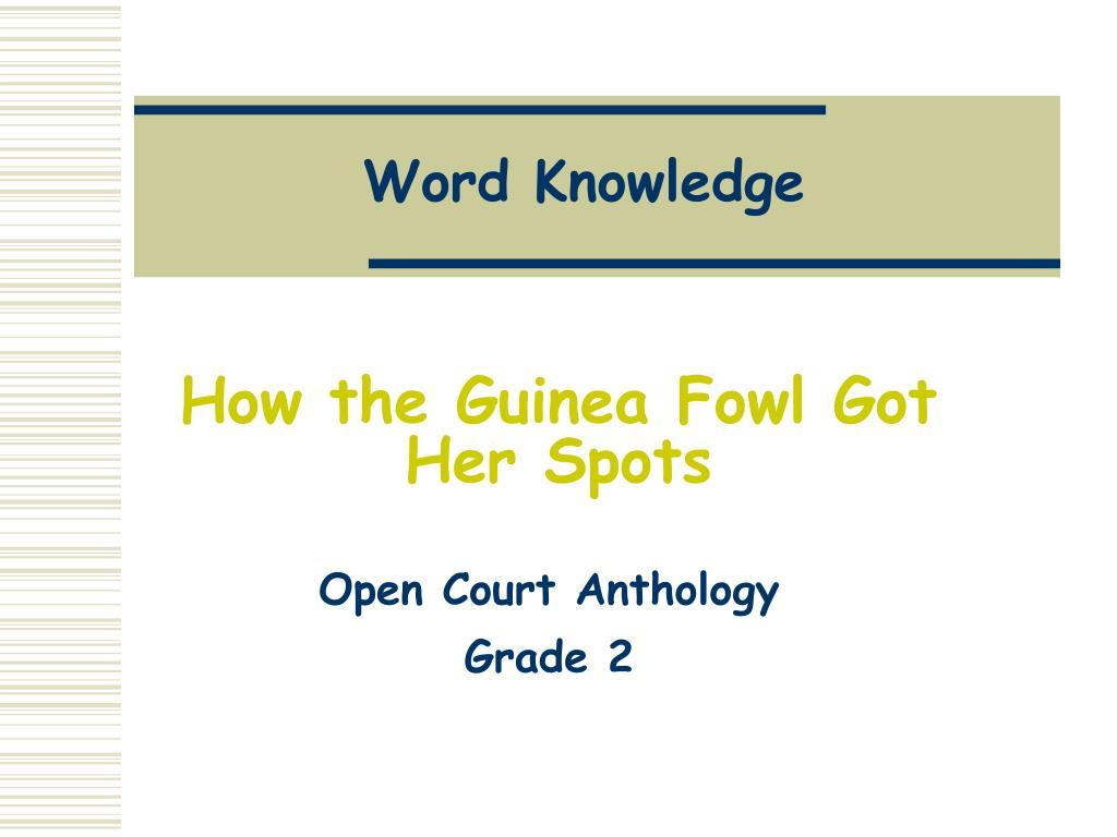 word knowledge l.