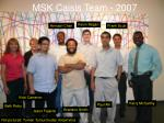 msk caisis team 2007